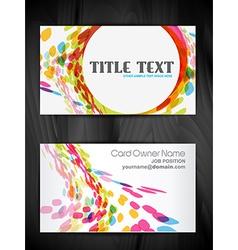 beautiful creative business card design vector image