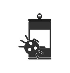 Black icon on white background canned and spider vector