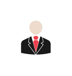 business man solid icon user business vector image