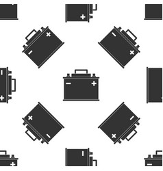 car battery icon seamless pattern vector image