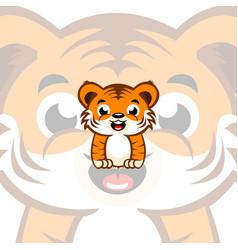 Cartoon baby tiger vector
