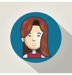cartoon girl character web graphic vector image