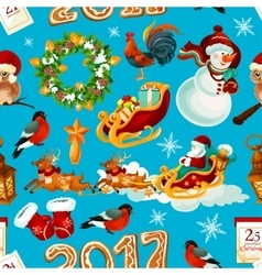 Christmas holidays seamless pattern background vector image