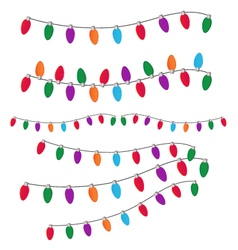 Christmas light set vector