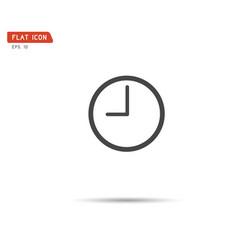 clock icon logo vector image