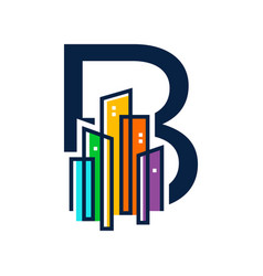 Colorful initial city b vector