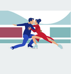 competitions sports dancing on ice in vector image