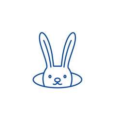 Conjure hare line icon concept conjure hare flat vector