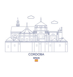 cordoba city skyline vector image