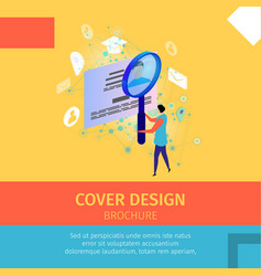 Cover design brochure square banner copy space vector
