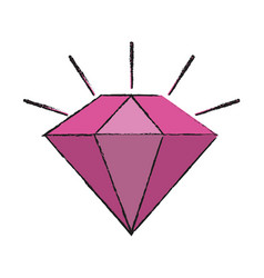 Diamond cartoon icon image vector