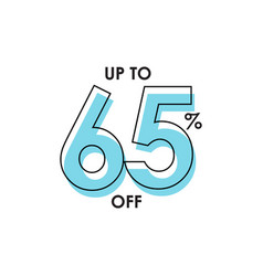 Discount up to 65 template design vector