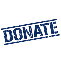 donate stamp vector image