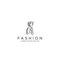 Dress logo design - luxury gown vector