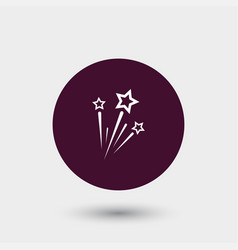 fireworks icon simple vector image