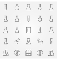 Flask icons set vector
