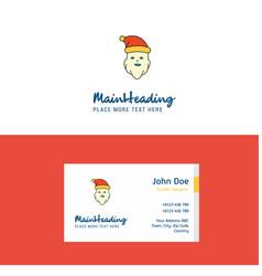 flat santa clause logo and visiting card template vector image