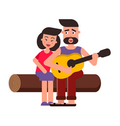 Flat style cartoon young vector