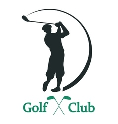 Golf club sign vector
