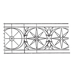 greek hydria rosette band is a design of the neck vector image