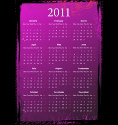 grunge calendar 2011 vector image