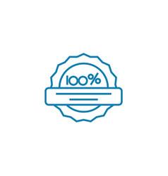 Guarantee quality linear icon concept vector