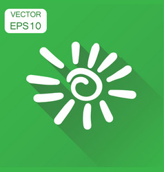 hand drawn sun icon business concept sun vector image