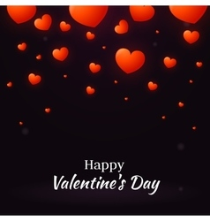 Happy Valentine Day with hearts vector image