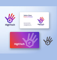 high five technology abstract sign or logo vector image