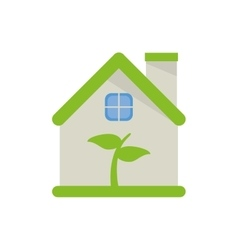 Isolated leaf inside house design vector