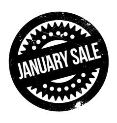 January Sale rubber stamp vector image