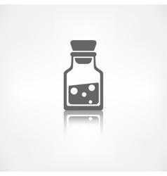 Laboratory medical flask vector image