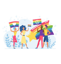 lgbt pride festival cartoon vector image