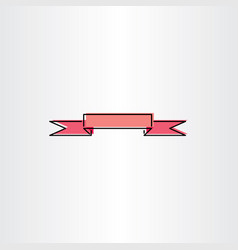 light red ribbon banner design element vector image