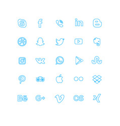 lined social media icon vector image