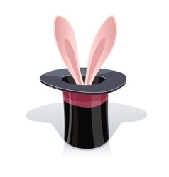 Magic cap and rabbits ear vector image