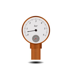 Manometer with temperature scale vector