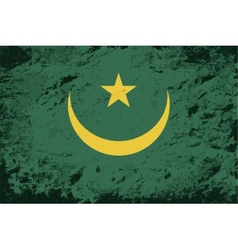 Mauritanian flag Grunge background vector