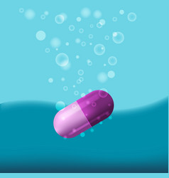 Medical capsule drop water bubble vector