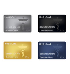 medical insurance card medical service concept vector image