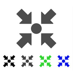 Meeting point flat icon vector