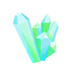 mineral crystalic precious stones crystal gems vector image