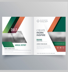 Modern style business bifold brochure design vector