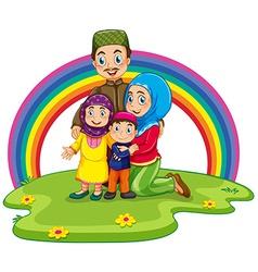 Muslim family vector image