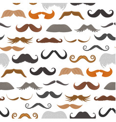 Mustache beard face haircut silhouette vector