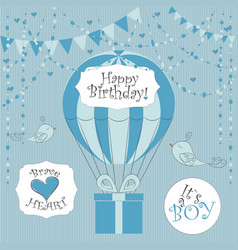 Newborn birthday cards its a boy vector