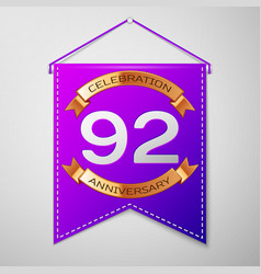 ninety two years anniversary celebration design vector image