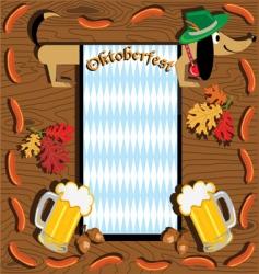 Oktoberfest dachshund vector