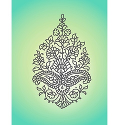 Paisley ethnic ornament isolated vector