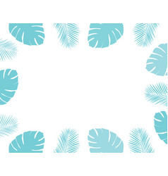 palm leaves frame vector image